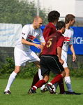 12.8.2007: Rot-Wei Darmstadt - Viktoria Griesheim 0:2 Dominik Lohrer, Manuel Lcke, Rot-Wei Darmstadt, Viktoria Griesheim. Kamil Kwiaton