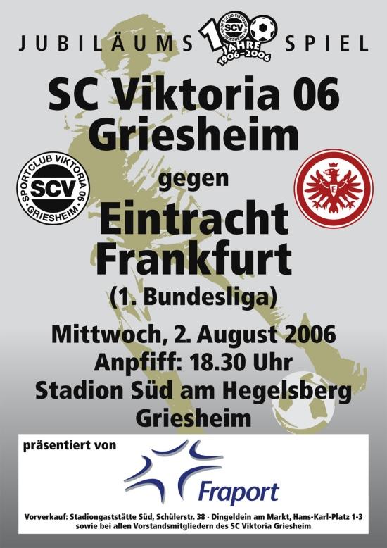Eintracht Frankfurt zu Gast bei Viktoria Griesheim